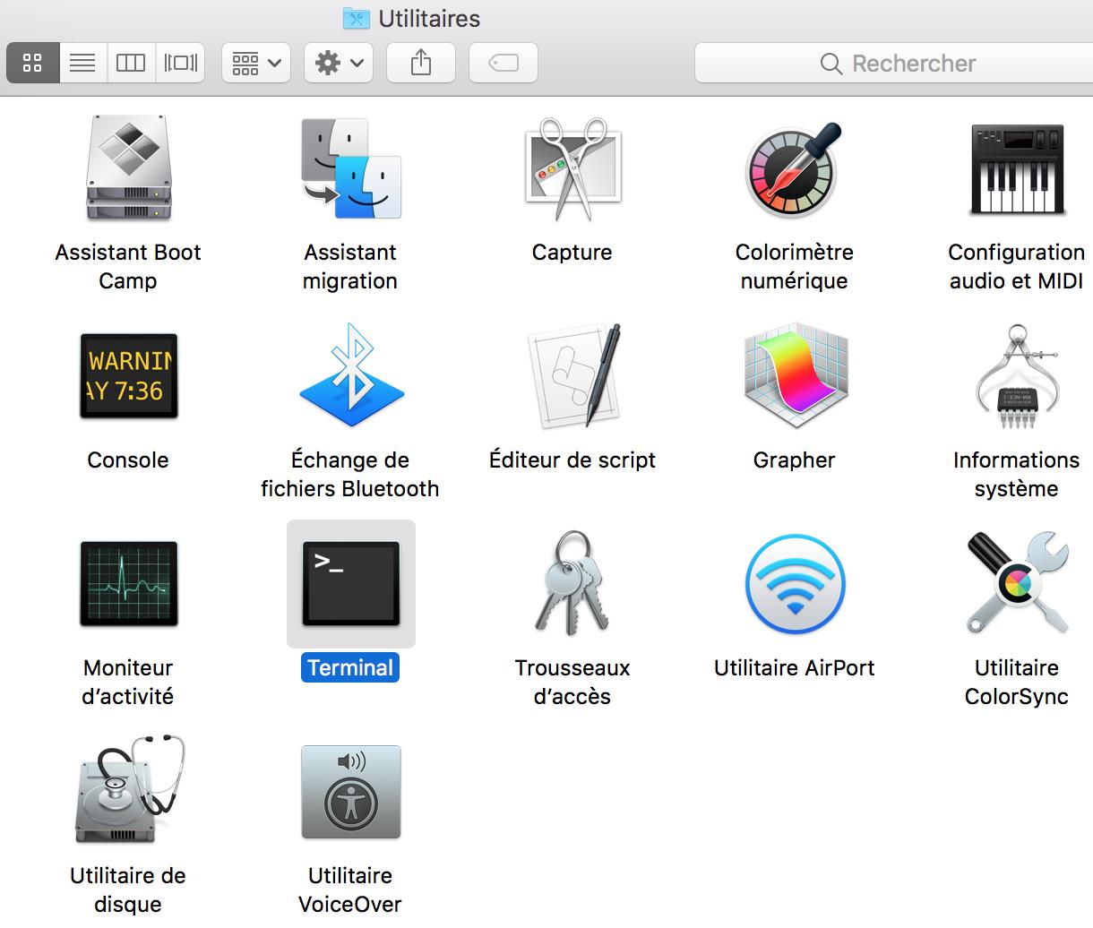 Fichiers cachés sur Mac OS