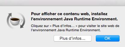 Problème OSX Java JRE