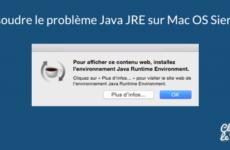 Popup Java JRE sur Mac Sierra